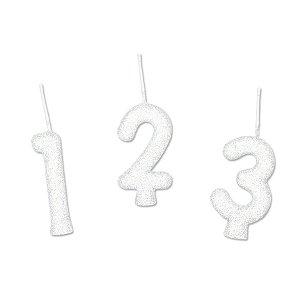 Vela Glitter Branco - 01 Unidade - Regina - Rizzo