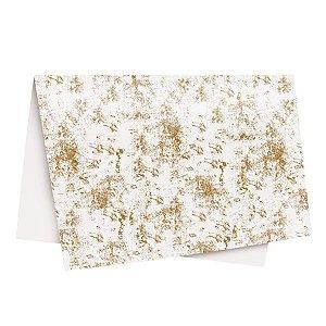 Papel de Seda Requinte Ouro - 49x69cm -10 folhas - Rizzo Embalagens