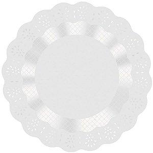 Fundo Rendadinho Redondo Branco - 100 unidades - Cromus - Rizzo