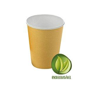 Copo Papel Biodegradável Dourado 240ml - 10 unidades - Silverplastic - Rizzo Festas