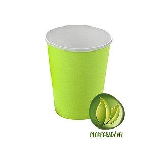 Copo Papel Biodegradável Verde Claro 240ml - 10 unidades - Silverplastic - Rizzo Festas