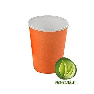 Copo Papel Biodegradável Laranja 240ml - 10 unidades - Silverplastic - Rizzo Festas