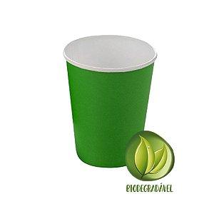 Copo Papel Biodegradável Verde 240ml - 10 unidades - Silverplastic - Rizzo Festas