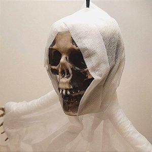 Caveira em Tecido em TNT Halloween - Branca - 1 Unidade - Rizzo Embalagens