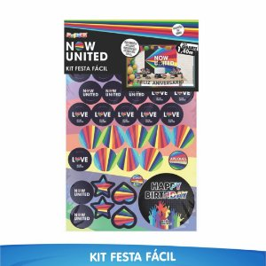 Kit Festa Fácil Now United - 39 Itens - 01 Unidade - Piffer - Rizzo Embalagens