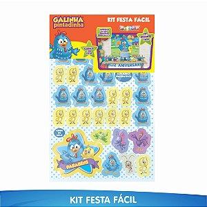 Kit Festa Fácil Galinha Pintadinha - 39 Itens - 01 Unidade - Piffer - Rizzo Embalagens