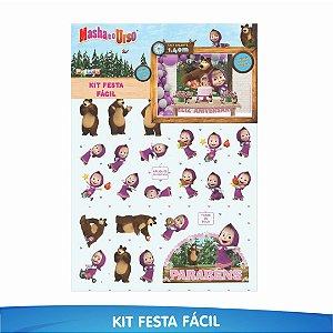 Kit Festa Fácil Masha e o Urso - 39 Itens - 01 Unidade - Piffer - Rizzo Embalagens