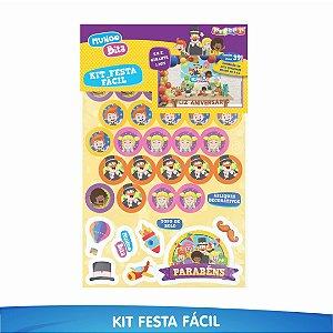 Kit Festa Fácil Mundo Bita - 39 Itens - 01 Unidade - Piffer - Rizzo Embalagens