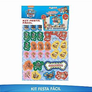Kit Festa Fácil Patrulha Canina - 39 Itens - 01 Unidade - Piffer - Rizzo Embalagens