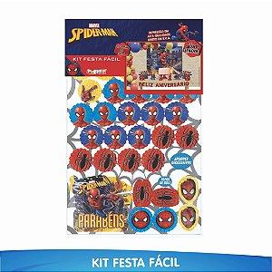Kit Festa Fácil Homem Aranha - 39 Itens - 01 Unidade - Piffer - Rizzo Embalagens