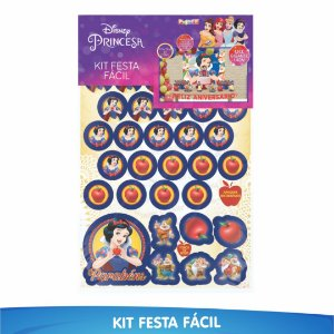 Kit Festa Fácil Branca de Neve - 39 Itens - 01 Unidade - Piffer - Rizzo Embalagens