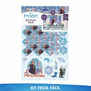 Kit Festa Fácil Frozen 2 - 39 Itens - 01 Unidade - Piffer - Rizzo Embalagens