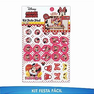 Kit Festa Fácil Minnie 39 Itens - 01 Unidade - Piffer - Rizzo Embalagens
