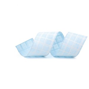 Fita Aramada Azul Claro com Decoração em Branco 6,3cm X 9,14cm - 01 unidade - Cromus Natal - Rizzo