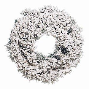 Guirlanda com Galhos Nevados 60cm - 01 unidade - Cromus Natal - Rizzo Embalagens