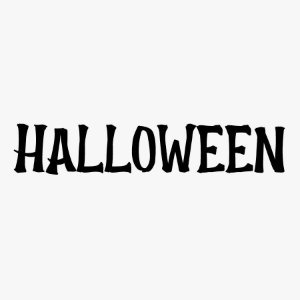 Transfer Halloween - Lettering HALLOWEEN - 01 Unidade - Rizzo Embalagens