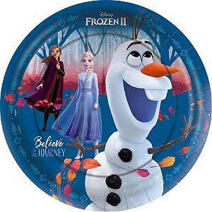 Prato de Papel Festa Frozen 2 - 12 Uni - Regina - Rizzo