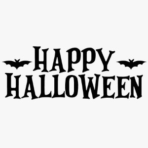 Transfer Halloween - Lettering HAPPY HALLOWEEN - 01 Unidade - Rizzo Embalagens