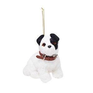 Enfeite para Pendurar Pelúcia Cachorro Fox Terrier - 01 unidade - Cromus Natal - Rizzo Embalagens