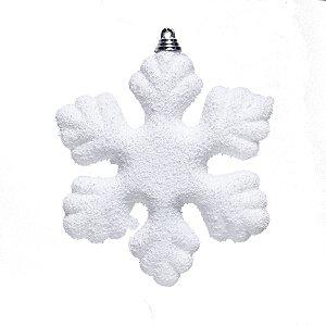 Enfeite para Pendurar Floco de Neve 14cm - 06 unidades - Cromus Natal - Rizzo Embalagens