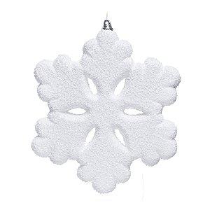 Enfeite para Pendurar Floco de Neve 20cm - 04 unidades - Cromus Natal - Rizzo Embalagens