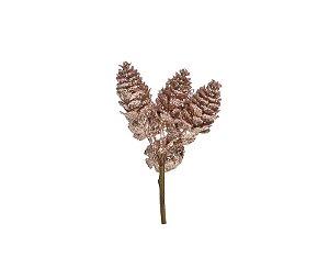Pick Galho Rose Gold 10cm - 01 unidade - Cromus Natal - Rizzo