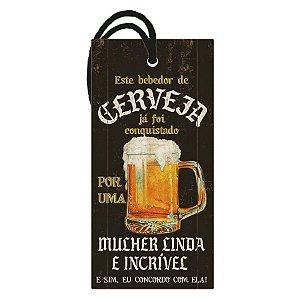 """Decor Home Tag """"Bebedor de Cerveja"""" - DHT2-126 - LitoArte - Rizzo"""
