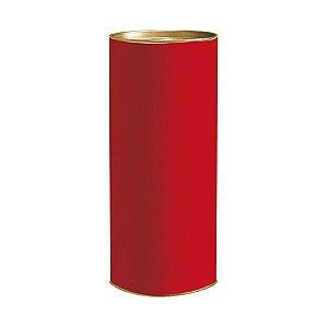 Lata para Presente Liso Vermelho - 01 unidade - Cromus - Rizzo Embalagens