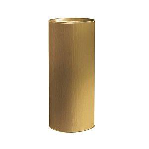 Lata para Presente Liso Ouro - 01 unidade - Cromus - Rizzo Embalagens