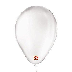 """Balão de Festa 6,5"""" Basic - Transparente - 50 Unidades - Balões São Roque - Rizzo"""
