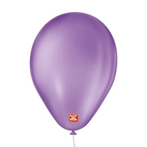 """Balão de Festa 6,5"""" Basic - Roxo - 50 Unidades - Balões São Roque - Rizzo"""