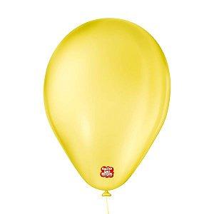 """Balão de Festa 6,5"""" Basic - Amarelo - 50 Unidades - Balões São Roque - Rizzo"""
