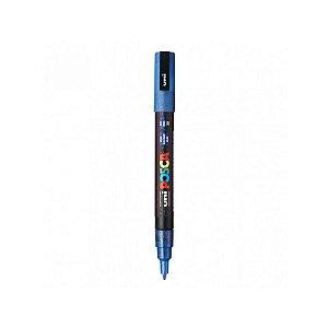 Caneta Posca PC-3ML 1,3mm Azul Glitter - 01 Uni - Uni Posca - Rizzo