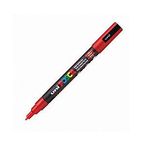 Caneta Posca PC-3M 1,3mm Vermelho - 01 Uni - UniPosca - Rizzo