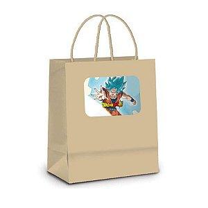 Sacola de Papel Kraft P Festa Dragon Ball Super 10 unidades - Rizzo Embalagens