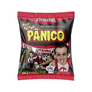 Pirulito Pop Tattoo Pânico - 01 Unidade - Florestal - Rizzo Embalagens