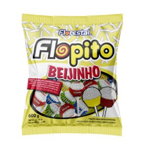 Pirulito Flopito Beijinho - 01 Unidade - Florestal - Rizzo Embalagens