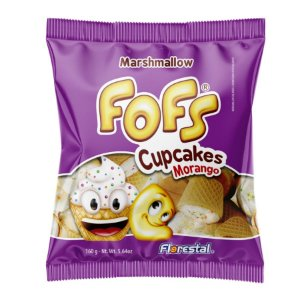 Marshmallow Fofs Cupcakes Morango - 01 Unidade - Florestal - Rizzo Embalagens