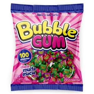 Chicle Bubble Gum Sortido - 01 Unidade - Florestal - Rizzo Embalagens