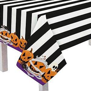 Toalha de Mesa Noite do Terror Halloween 118x180cm - 1 Unidades - Cromus - Rizzo Embalagens