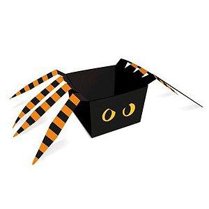 Cachepot Aranha Noite do Terror Halloween 8x8x6cm - 8 Unidades - Cromus - Rizzo Embalagens