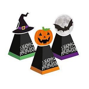 Caixa Cone com Aplique Noite do Terror Halloween 8 Unidades - Cromus - Rizzo Embalagens