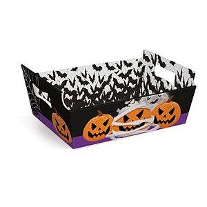 Cesta de Cartão Noite do Terror Grande Halloween 32x24x11 1 Unidades - Cromus - Rizzo Embalagens