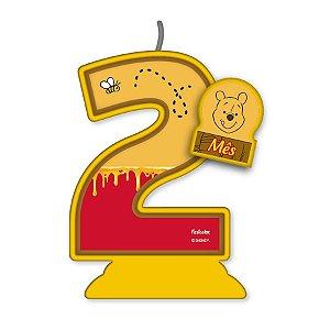 Vela Mesversário Festa Pooh e sua Turma - 2 mês - 01 Unidade - Festcolor - Rizzo Embalagens