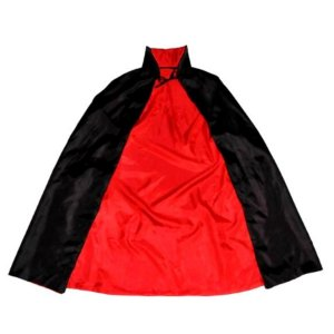 Capa de Vampiro - Halloween - Preto e Vermelho - Adulto - 01 unidade - Rizzo