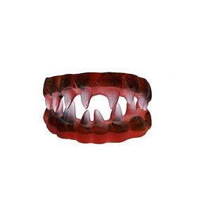 Dentadura Halloween Monstro -Vermelho - 01 unidade - Rizzo