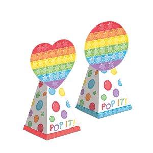 Caixa Cone com Aplique Festa Fidget Toys 8 Unidades - Cromus - Rizzo