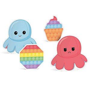 Silhueta Decorativa de Mesa Festa Fidget Toys 4 Unidades - Cromus - Rizzo Embalagens