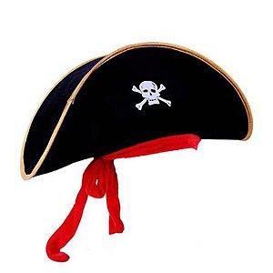Chapéu Pirata - Halloween - Preto - 01 unidade - Rizzo