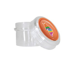 Potinho Acrílico Redondo Tampa Rosqueável Festa Fidget Toys - 80ml - 4,8cm x 5cm - 20 unidades - Rizzo Embalagens